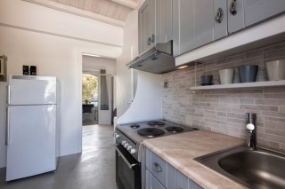 Two-bedroom apartment with sea view to kyma kitchen
