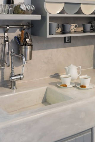 partial sea view studio to kyma kitchen sink
